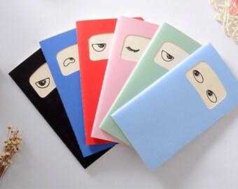 Cute Emoji Blank Notebook, Minimalist Notebook, Pocket Size Notebook, Journal,Diary,Traveler, Planner Insert, Journal Insert