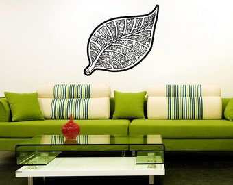 Vinyl Wall Art Decal Sticker Leaf Art  OSAA1722m