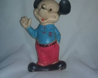 Mickey Mouse squeak toy 1965 Walt Disney productions. Walt Disney squeaky toy,Disney Collectibles