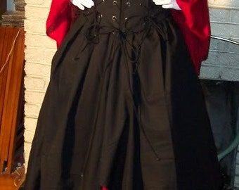 Halloween pirate Witch dress corset costume renaissance