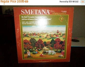 "Vintage 1975 Vinyl LP Record Bedřich Smetana Má Vlast (Complete Symphonic Cycle) ""The Bartered Bride 6524"