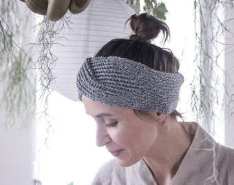 ear warmer, winter headband, knitted head band, warm headband, knit ear warmer, cashmere gift for her, gift for mom, gift for mother in law