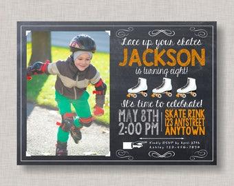 Roller Skating Invitation, Roller Skating Birthday, Roller Skating Party
