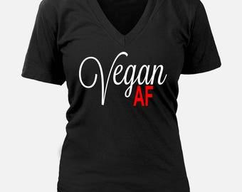 Vegan AF T-shirt ~ Tees For Vegans ~ Vegetarian