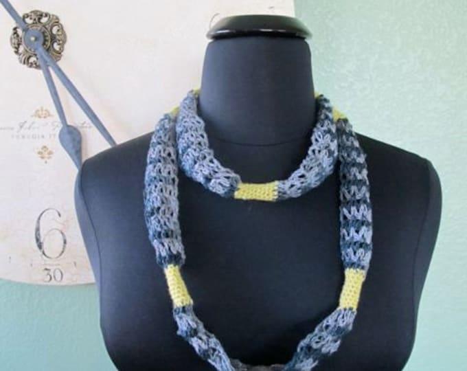 Linen and Lace Necklace - PDF Crochet Pattern