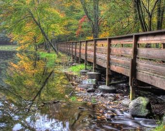 Wolfe Park Lake and Bridge  Monroe, CT