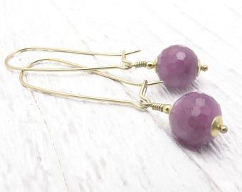 ruby earrings, gold ruby earrings, genuine ruby, July birthstone, July gift birthstone gift, gift for her, luxury earrings, Christmas