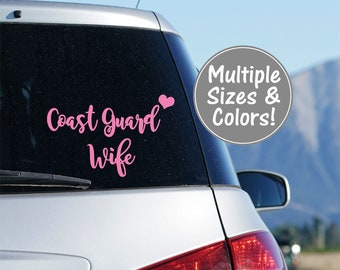 Coast Guard Wife Car Decal, Coast Guard Decal, Coast Guard Wife Decal, Coast Guard Yeti Decal, Decal for Tumbler, Military Gifts Coast Guard