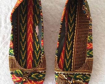 Ballet flats size 29 dashiki pattern