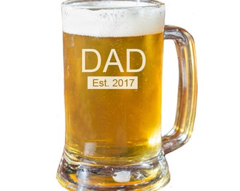 Dad Beer Mug, Fathers Day Gift, Personalized Beer Mug, Husband Gift, Gift For Dad, Engraved Beer Mug