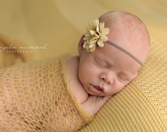 Simply Newborn Pure Naturals Newborn Stretch Knit Wrap in Dreamy Sunshine Golden Yellow