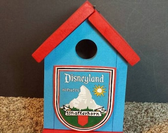 Disneyland Matterhorn Custom Crafted Bird House- Free Shipping