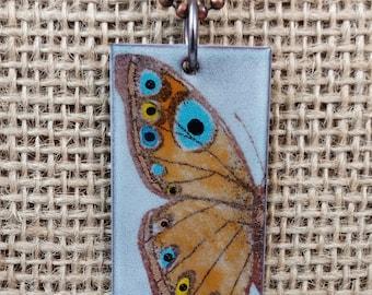 Hand-painted Enamel Butterfly Pendant