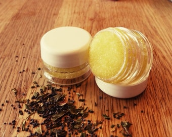 All Natural Vanilla Mint Sugar Lip Scrub; Energy, Cleansing and Love