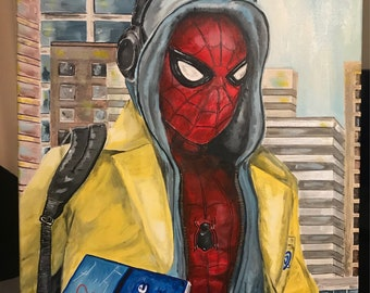 Spider Man Homecoming painting