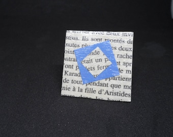 Book paper and blue ring