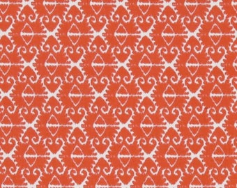 1/2 Yard - Spa Ikat, Coral, Michael Miller - Orange, White - Quilting Cotton Fabric - Yardage, Fabric Sale, Destash,