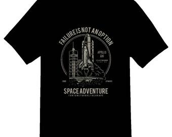 Space Adventure Failure is not an option tee shirt 08012016