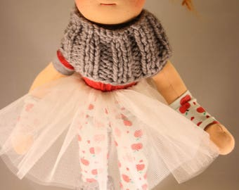 Lisa, the little ballerina, Natural fiber art doll, Waldorf art doll, doll