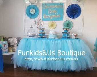 Tutu Table Skirt, Tulle Table Skirt,Various Colors and Sizes Available