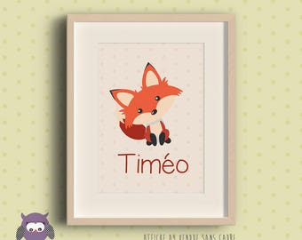 Customized with name - personalized - Fox poster