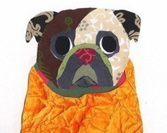 Pug Collage Note Cards  - 2 Designs - A62 A55