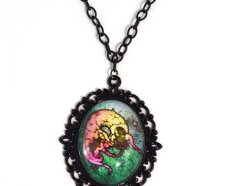 Gothic Mermaid Necklace - 16 Inches - Mermaid Necklace - Free US Shipping