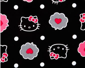Thoughts of Love Bubble Hello Kitty allover Premium 100% Cotton fabric (SC61)