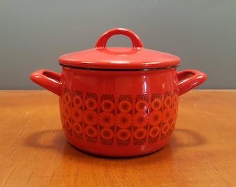 """Kaj Franck - Vintage Enamel Pot - """"Kehrä"""" - Arabia Finel - 1960s (V241)"""