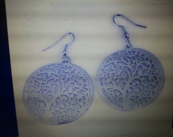 Filigree gold plated tree of life earrings