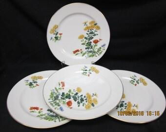 Noritake (Spring) Floral Pattern Dinner Plates (4)
