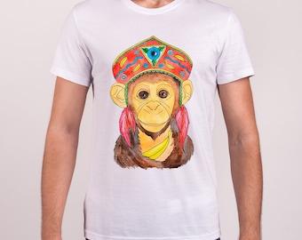 T-shirt Monkey print