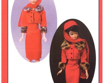 "NEW! Instant download pdf pattern MATINEE FASHION  by Marirose for Barbie! complete! from book ""Vintage Clothing for the Fashion Doll"""