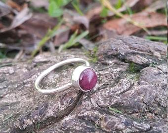 Pink Tourmaline Ring - Handmade & Silver