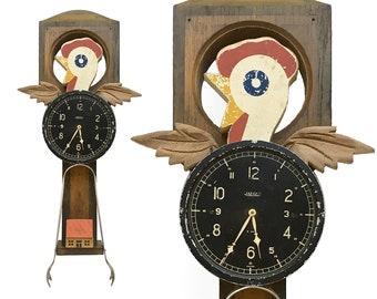 rooster assemblage, assemblage art, found object art, assembled sculpture, Rise and Shine, primitive folk art, bird artwork, farm animal,