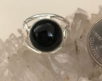 Black Onyx Ring Size 8