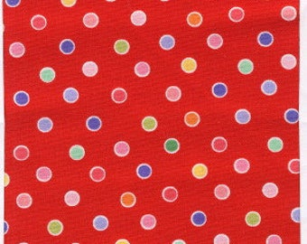 Pam Kitty Dots by Holly Holderman for LakeHouse Dry Goods, Fabric by the yard, LH12037 Red