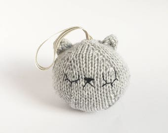 Sleepy Bear Baby Rattle