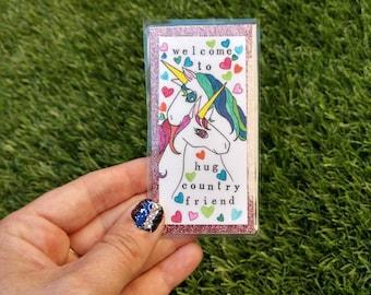 Unicorn Hugs bookmark
