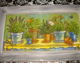 Great frame for cooking with herbs