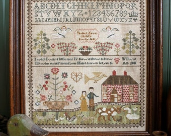 Never Let You Go : Cross Stitch Pattern by Heartstring Samplery