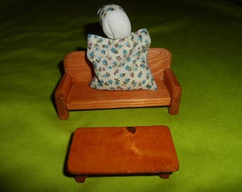 SMALL sofa and her coffee table for Dollhouse