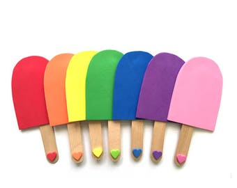Popsicle Color Matching Game with Colored Craft Sticks, Montessori Color Games for Toddlers, Learning Color Game, Toddler Activities