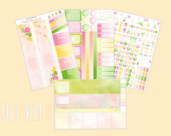 Pink Lemonade - May, Monthly spread planner stickers,  4/5pages (for Erin Condren, Plum Paper, Kikki K, Paperchase, Filofax)