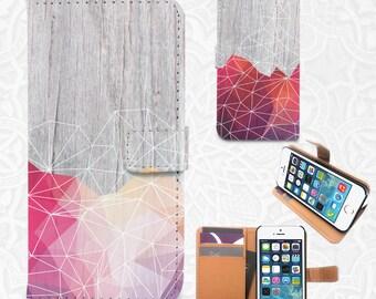 Geometric Wood iPhone/smartphone flip PU leather Wallet case iPhone 6, 6 plus, 5, 5s, 5c, 4, 4s,  Sony Z3, Z4, LG G3, LG G3 Vigor, Samsung