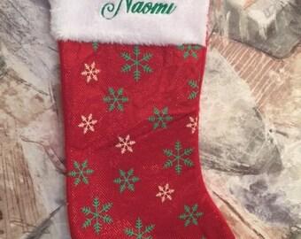 Christmas stocking, Personalized stocking, Embroidered stocking, Personalized Christmas stocking, Embroidered Christmas Stocking,