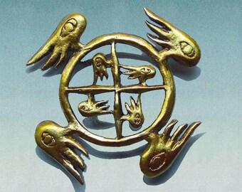 Guardian Angel brooch, Ezekiel's Wheel, Celtic jewelry, spiritual, Inspiration, Wicken, wings, goth, Angel wings pin, Celtic pin, Christmas
