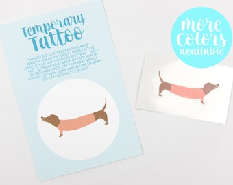 Dachshund in a Sweater Temporary Tattoo | Dachshund Gift | Gifts for Dog Lovers | Temporary Tattoo | Stocking Stuffer | Gifts Under 5