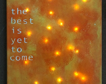 Lighted Inspirational Canvas Painting