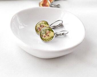 SALE jewelry Handmade earrings Yellow earrings for girlfriend Delicate earrings jewelry Romantic earrings for her Pretty earrings for girls
